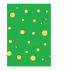 Yellow bubbles Large Garden Flag (Two Sides)