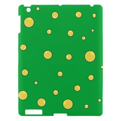 Yellow bubbles Apple iPad 3/4 Hardshell Case