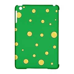 Yellow bubbles Apple iPad Mini Hardshell Case (Compatible with Smart Cover)