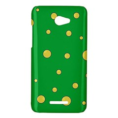 Yellow bubbles HTC Butterfly X920E Hardshell Case