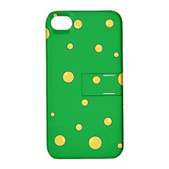 Yellow bubbles Apple iPhone 4/4S Hardshell Case with Stand