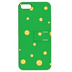 Yellow bubbles Apple iPhone 5 Hardshell Case with Stand