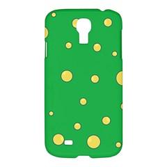 Yellow bubbles Samsung Galaxy S4 I9500/I9505 Hardshell Case