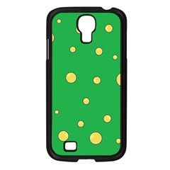 Yellow bubbles Samsung Galaxy S4 I9500/ I9505 Case (Black)