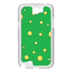 Yellow bubbles Samsung Galaxy Note 2 Case (White)