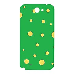 Yellow bubbles Samsung Note 2 N7100 Hardshell Back Case