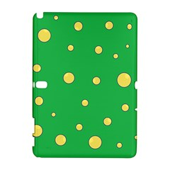Yellow bubbles Samsung Galaxy Note 10.1 (P600) Hardshell Case