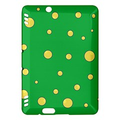 Yellow bubbles Kindle Fire HDX Hardshell Case
