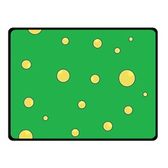 Yellow bubbles Double Sided Fleece Blanket (Small)