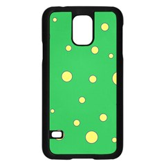 Yellow bubbles Samsung Galaxy S5 Case (Black)