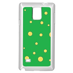 Yellow bubbles Samsung Galaxy Note 4 Case (White)