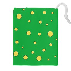 Yellow bubbles Drawstring Pouches (XXL)