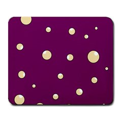 Purple and yellow bubbles Large Mousepads