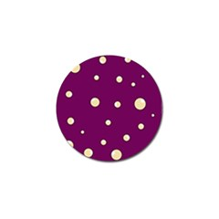 Purple and yellow bubbles Golf Ball Marker (4 pack)