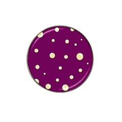 Purple and yellow bubbles Hat Clip Ball Marker (4 pack)