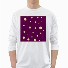 Purple and yellow bubbles White Long Sleeve T-Shirts