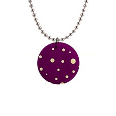 Purple and yellow bubbles Button Necklaces