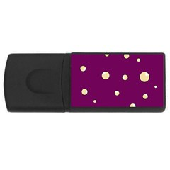 Purple and yellow bubbles USB Flash Drive Rectangular (4 GB)