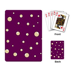 Purple and yellow bubbles Playing Card