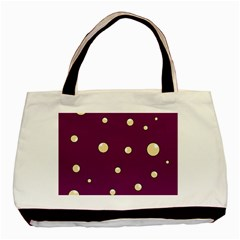 Purple and yellow bubbles Basic Tote Bag