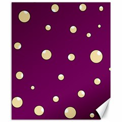 Purple and yellow bubbles Canvas 8  x 10