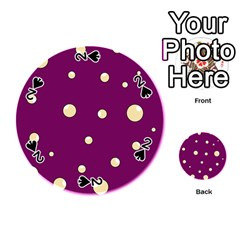 Purple and yellow bubbles Playing Cards 54 (Round)