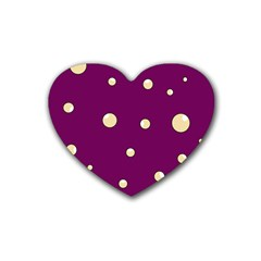 Purple and yellow bubbles Heart Coaster (4 pack)