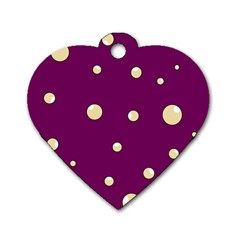 Purple and yellow bubbles Dog Tag Heart (One Side)
