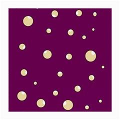 Purple and yellow bubbles Medium Glasses Cloth