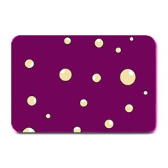 Purple and yellow bubbles Plate Mats