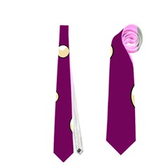 Purple and yellow bubbles Neckties (Two Side)