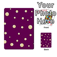 Purple and yellow bubbles Multi-purpose Cards (Rectangle)