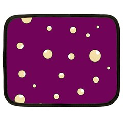 Purple and yellow bubbles Netbook Case (Large)