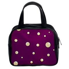 Purple and yellow bubbles Classic Handbags (2 Sides)