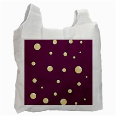 Purple and yellow bubbles Recycle Bag (Two Side)