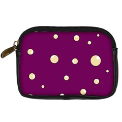 Purple and yellow bubbles Digital Camera Cases