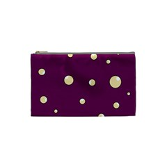 Purple and yellow bubbles Cosmetic Bag (Small)