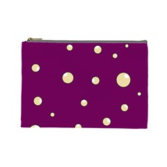 Purple and yellow bubbles Cosmetic Bag (Large)