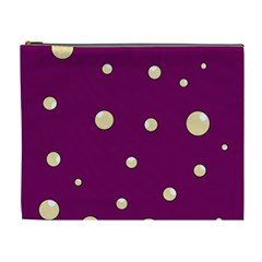 Purple and yellow bubbles Cosmetic Bag (XL)