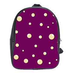 Purple and yellow bubbles School Bags(Large)