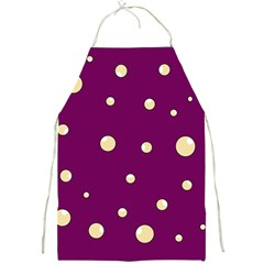 Purple and yellow bubbles Full Print Aprons
