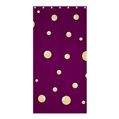 Purple and yellow bubbles Shower Curtain 36  x 72  (Stall)