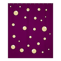 Purple and yellow bubbles Shower Curtain 60  x 72  (Medium)