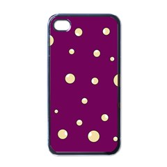 Purple and yellow bubbles Apple iPhone 4 Case (Black)