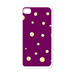 Purple and yellow bubbles Apple iPhone 4 Case (White)