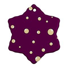 Purple and yellow bubbles Ornament (Snowflake)
