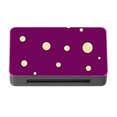 Purple and yellow bubbles Memory Card Reader with CF