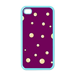 Purple and yellow bubbles Apple iPhone 4 Case (Color)
