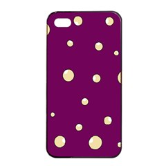 Purple and yellow bubbles Apple iPhone 4/4s Seamless Case (Black)