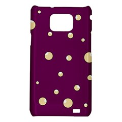 Purple and yellow bubbles Samsung Galaxy S2 i9100 Hardshell Case